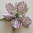 Image Beaded Desert Rose Brooch/Pin