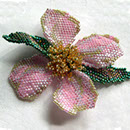 Image of Beaded Dogwood Brooch/Pin